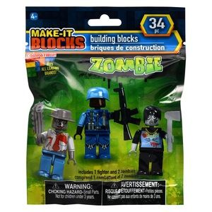 ZOMBIES! 3 Mini Figures *Factory Sealed Package*